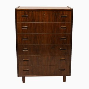 Danish Walnut Chest with 6 Drawers, 1960s
