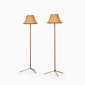 Lámparas de pie G302 Floor Lamps, años 50. Juego de 2