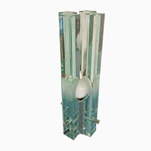Lámpara de mesa vintage de vidrio de Galotti & Radice
