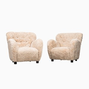 Easy Chairs by Flemming Lassen for A.J. Iversen, 1930s, Set of 2