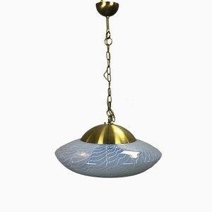 Lámpara colgante de cristal de Murano de Angelo Brotto para Esperia, años 60