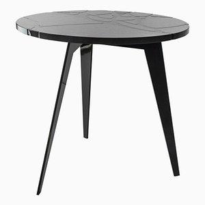 tavolo da esterni Filodifumo rotondo in pietra lavica ed acciaio di Riccardo Scibetta e Sonia Giambrone per MYOP