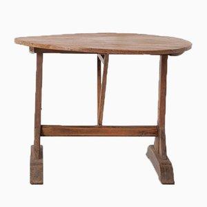 Mesa de pino y roble con motivos de vendimia, siglo XIX