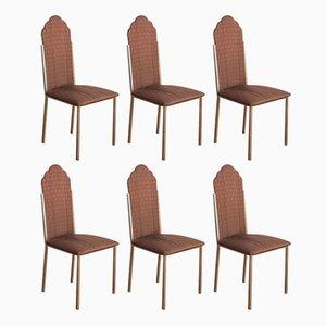 Esszimmerstühle von Alain Delon für Maison Jansen, 1970er, 6er Set