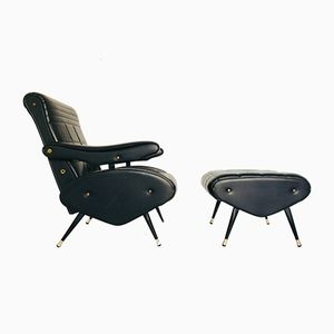 Lounge Chair with Ottoman, 1970s