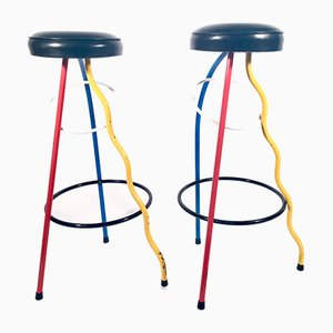 Duplex Barstools by Javier Mariscal for BD Barcelona, 1983, Set of 2
