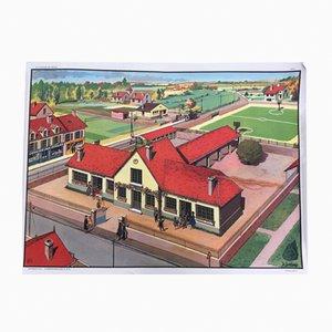 Affiche École Vintage de MDI, 1960s