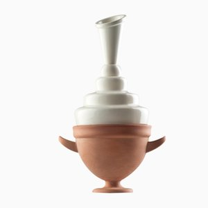 #02 Mini HYBRID Vase in White by Tal Batit