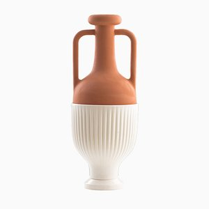 #01 Medium HYBRID Vase in White by Tal Batit