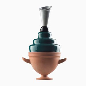 Vaso #02 Mini HYBRID verde-grigio-nero di Tal Batit