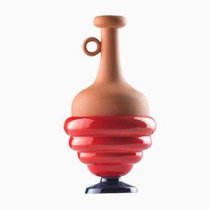 #06 Mini HYBRID Vase in Kobaltblau-Rot von Tal Batit