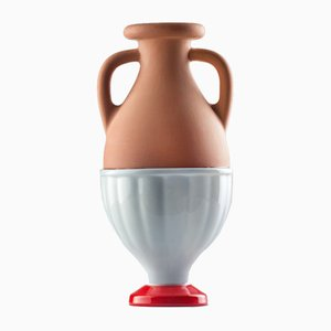 #04 Mini HYBRID Vase in Light Blue-Red by Tal Batit