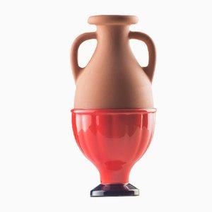 Vaso #04 Mini HYBRID rosso cobalto di Tal Batit