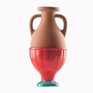 Vaso #04 Mini HYBRID rosso-turchese di Tal Batit