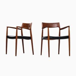 Chaises Modèle 57 par Niels O. Møller, 1960s, Set de 2