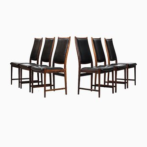 Highback Dining Chairs by Torbjørn Afdal for Nesjestranda Møbelfabrik, 1960s, Set of 6