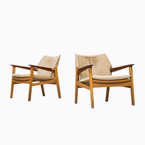 Model 9015 Easy Chairs by Hans Olsen for Gärsnäs, 1960s, Set of 2