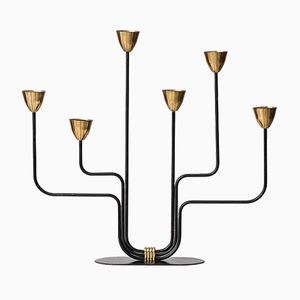 Candleholder by Gunnar Ander for Ystad-Metall, 1950s