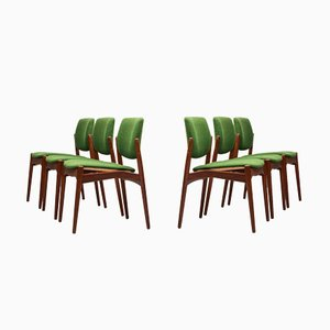 Captain Dining Chairs by Erik Buch for Ørum Møbelsnedkeri, 1960s, Set of 6