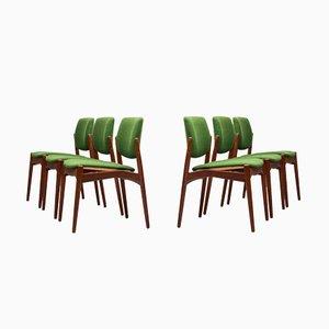 Chaises de Salle à Manger Captain par Erik Buch pour Ørum Møbelsnedkeri, 1960s, Set de 6