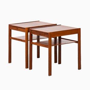 Dixi Bedside Tables by Sven Engström & Gunnar Myrstrand for Tingströms, 1950s, Set of 2