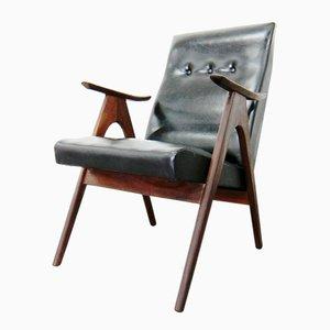 Chaise à Dossier Haut en Teck par Louis van Teeffelen pour WéBé, 1960s