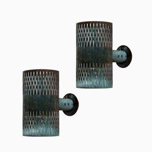 Lámparas de pared de Hans Bergström para Ateljé Lyktan, años 40. Juego de 2