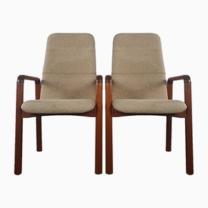 Danish Solid Teak Armchairs from Dyrlund, 1960s, Set of 2
