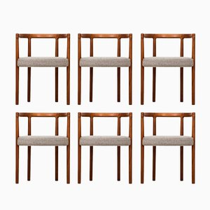 Model 195 Dining Chairs by Ole Gjerløv-Knudsen for France & Søn, 1960s, Set of 6
