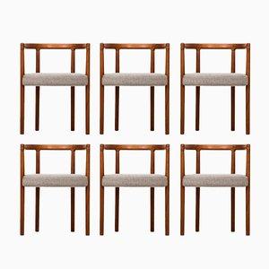 Model 195 Dining Chairs by Ole Gjerløv-Knudsen for France & Søn, 1960s, Set of 6