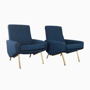Vintage Troïka Sessel von Pierre Guariche für Airborne, 2er Set