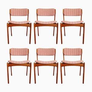Teak Dining Chairs by Erik Buch for Oddense Maskinsnedkeri, 1960s, Set of 6