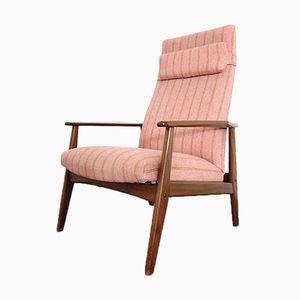 Poltrona reclinabile in teak, anni '60