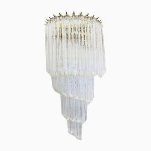 Lámpara de pared de cristal de Murano, años 70