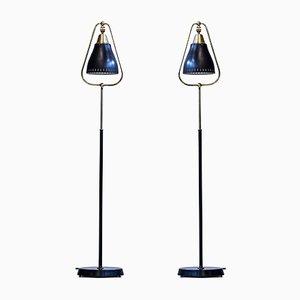 Lámparas de pie suecas de Göteborgs Armaturhantverk, años 50. Juego de 2