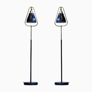 Swedish Floor Lamps from Göteborgs Armaturhantverk, 1950s, Set of 2