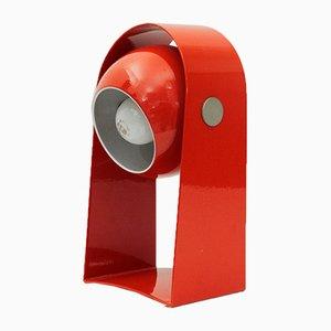 Rote italienische Tischlampe, 1960er