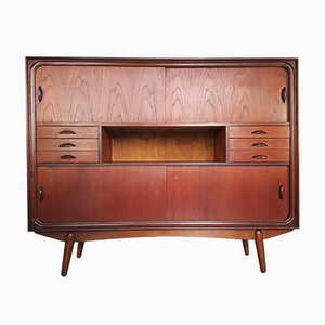 Mid-Century Danish Teak Highboard, 1950s