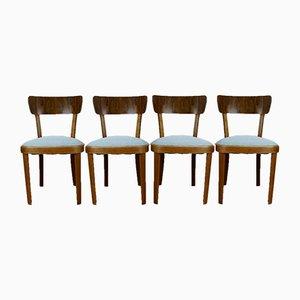 Polnische Art Deco Stühle, 4er Set