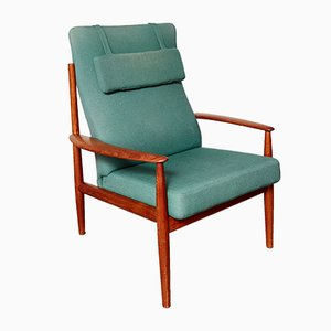 Mid-Century 218 Highback Chair by Grete Jalk for France & Søn