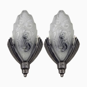 Art Deco Cone-Shaped Wall Lights, Set of 2