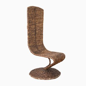 Woven Banana Leaf S Chair by Marzio Cecchi, 1970s