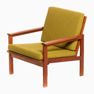 Capella Chair with Solid Teak Frame by Illum Wikkelsø for N. Eilersen, 1960s