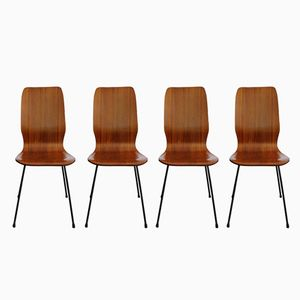 Rosewood Dining Chairs, 1950s, Set of 4