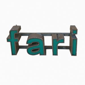 Vintage Plexiglas & Iron Fari Sign