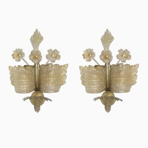 Model Grand Hotel Sconces from Barovier & Toso, 1960, Set of 2
