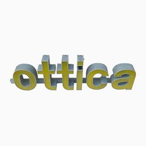 Insegna Ottica vintage in plexiglas