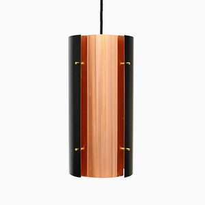 Cylindrical Aluminum & Copper Pendant by Carl Thore, 1960s
