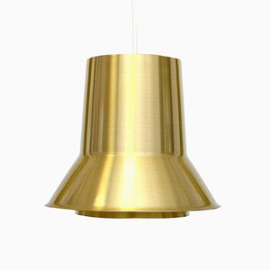 Vintage Pendant Lamp in Golden Aluminum, 1960s