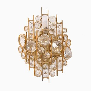 Sculptural Wall Light in Golden Brass, 1960s